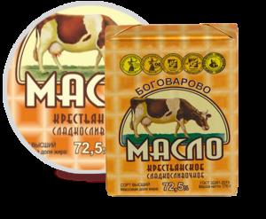 Масло Сливочное Боговарово Крестьянское 170 гр 72,5%
