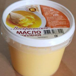 Масло топленое (Воскресенский завод) Вес: 0,25 кг.