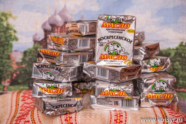 Масло Сливочное Воскресенское 185 гр 72,5% ГОСТ Р 52969-2008