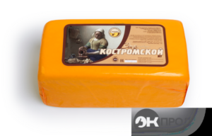 Сыр Костромской Мантуровский комбинат Брус. Сыр Костромской 1-1,2 кг. Индивидуальная вакуумная упаковка