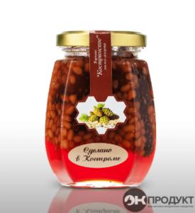 Варенье «Костромское». Из сосновых шишек с ядрами кедрового ореха 220гр.