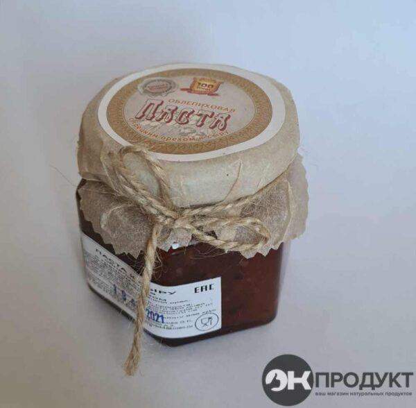 Паста облепиха с грецким орехом. 130 гр
