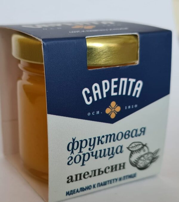 Фруктовая горчица Апельсин. К паштету, сыру и птице